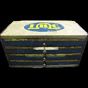 Vintage Metal Shop Display Box for IRC by Advertising Metal Display Co.