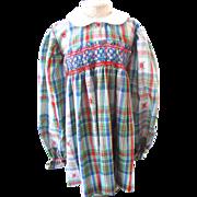 Darling Little Vintage Hand Smocked Child's Dress