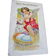 1914 Best Easter Wishes Post Card Embossed‏
