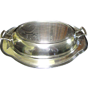 Nice Vintage Covered Silver Plated Convertible Serving Dish