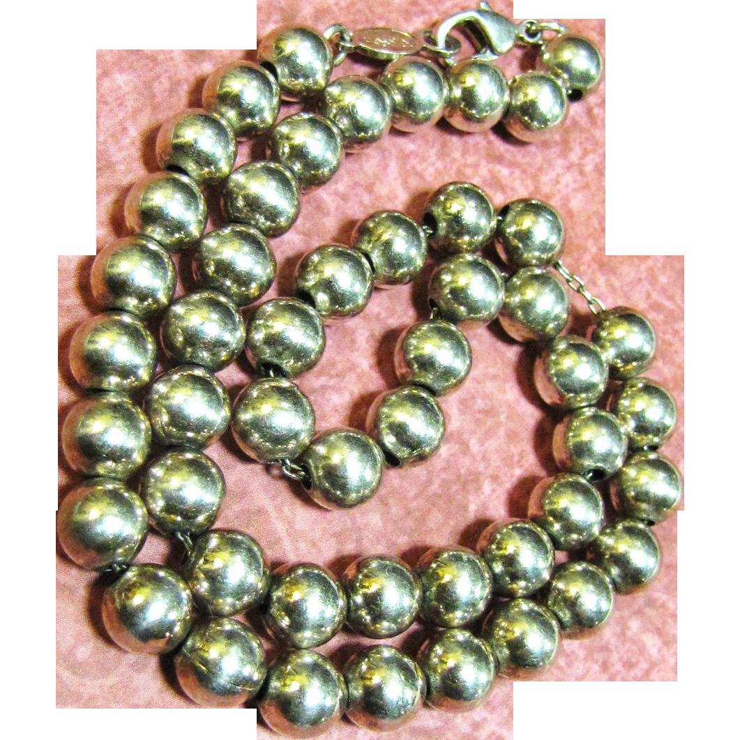 Elegant and Stylish Napier Silver Bead Necklace