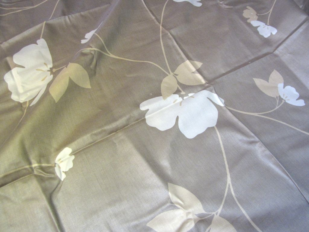 "54""  Bolt End of 1980's Stylized Flower Screen Printed Cotton"