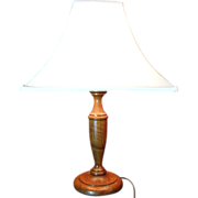 Turned Hardwood Table Lamp, Large, Lovely Figured Wood!