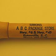 SC Vintage Pocket Wooden Advertising Corkscrew