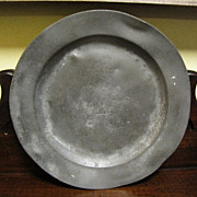 Antique Pewter English Plate with London mark 9 1/2""