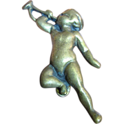 Lovely Vintage Brass Cherub Door Knocker