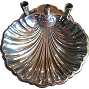 Sheffield Silver Co. Shell Serving Dish with Candle Holders