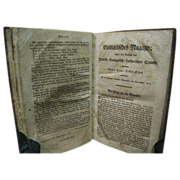 1812 German - American Evangelical Lutheran Magazine Leather