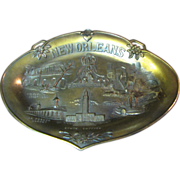 1950's New Orleans Souvenir Plate, Relief Scenes of the City