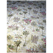 1 3/4 Yds Southern Califorina Design Retro Inspired Fabric