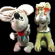 Wacky Pair of 1950's Japanese Velveteen Toys