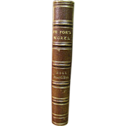 1840, Moll Fanders - A Novel of Daniel De Foe, Leather Boundd