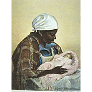 Original Elizabeth O'Neill Verner Signed Print, Pink Baby