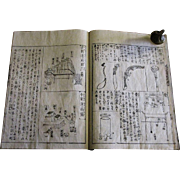 1880's, Japanese Wood Block Print Book, Rare