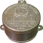Vintage Rockwell Hinged Brass Water Meter Cover Pittsburgh PA USA
