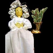 Tiny Gilt Cornucopia Vase, Perfect for Fashion Doll Table