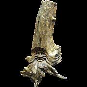 """Large 14"""" Primitive Carved Face Wooden Branch Sculpture"""