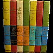 Set of 7 The Children's Classics-1961-Alice In Wonderland, Robin Hood, Tom Sawyer