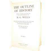 1949, The Outline of History Volumes I by H.G. Wells, Published by Garden City Books, Illustrated by J.F. Horrabin