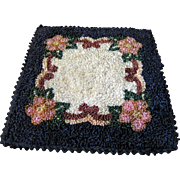 Sweet Hand Stitched Silk Floral Doll House Rug