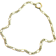 """Antique Victorian Watch Chain 17"""" Gold Filled Necklace"""