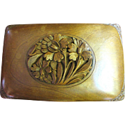 Hand Carved Walnut Black Forest 1930's Cigarette Box