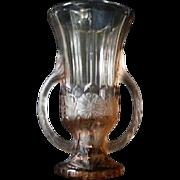 English 1930s Art Deco Dora Pattern – Trophy - Dora Pattern Vase by Sowerby