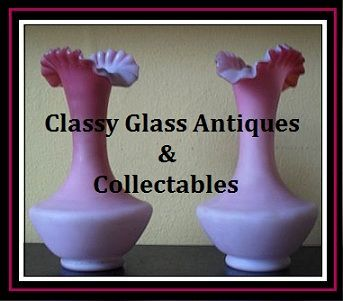 Pair of English Victorian Satin Glass Wild Rose Vases. Circa 1880's by Thomas Webb