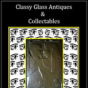 Vintage & Unique 10 inch  faux bronze panel tablet of an Egyptian tomb wall scene.