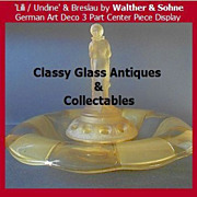 Amazing Amber Glass Center Piece Lilli / Undine & Breslau by Walther & Sohhne,Germany.