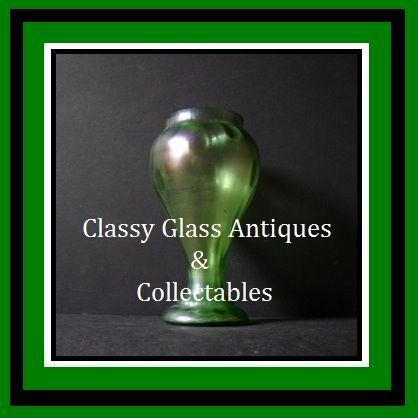 Bohemian Art Nouveau Iridescent & Uranium Glass Vase by Kralik