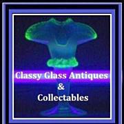 Thomas Webb, Opalescent & Uranium  Glass Vase. England pre-1910.