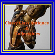 Mid c20th Gilded & Hand Painted Nepalese Bronze Dancing Girl Figurine Depicting Tara.