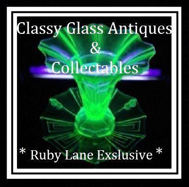 Incredible 3 Piece Uranium Green Glass 1930s Austrian Art Deco Vase & Charger Center Piece Flower Set Display by Stolzle