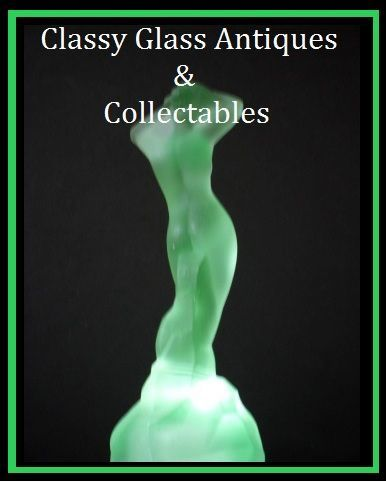 'Andromeda' 1930s Art Deco Uranium Glass Lady Statuette  by Bagley, England