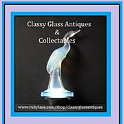 Sabino Opalescent Crystal Glass Cigogne héron  - Heron Stork Figurine