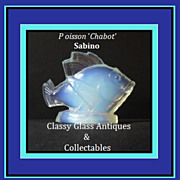 Sabino Poisson Chabot Opalescent Crystal Glass Fish Figurine