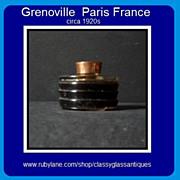 RARE 1920s Art Deco Perfume Scent Bottle by Grenoville, Paris, France.
