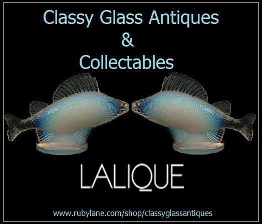 Retired & Scarce Opalescent Blue Crystal Perch Car Hood Mascot Paperweight by Lalique.