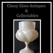 Bohemian Art Nouveau Jugendstil Mother of Pearl Glass Vase by Kralik