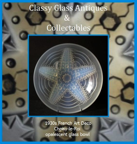 Superb 1930s French Art Deco Choisy-le-Roi Opalescent Glass Bowl