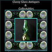 Bohemian Art Nouveau Iridescent Glass Vase circa pre – 1910