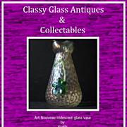 Bohemian Art Nouveau Iridescent Glass Vase by Kralik – Early 1900s