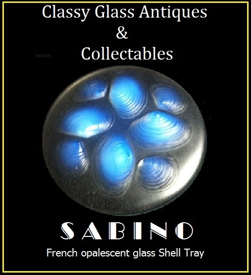 Sabino Paris. French Opalescent Glass Shell Pattern Tray – Signed Original