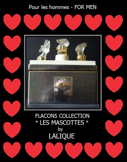 LALIQUE Les Mascottes Pour Homme 3 Bottle Presentation - Complete with all contents & packaging