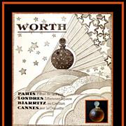 Vintage LALIQUE Perfume Bottle Dans la Nuit by Worth