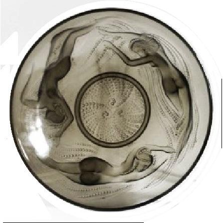 Incredible 1930s French Art Deco glass Mermaids – Naiades Sirens bowl by Sabino