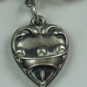 Sterling Silver Repousse Puffy Heart Charm