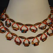 Original by Robert Egyptian Revival Festoon Necklace