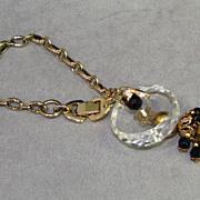 Sperry Vintage Lucite Wrist Charmer Charm Bracelet